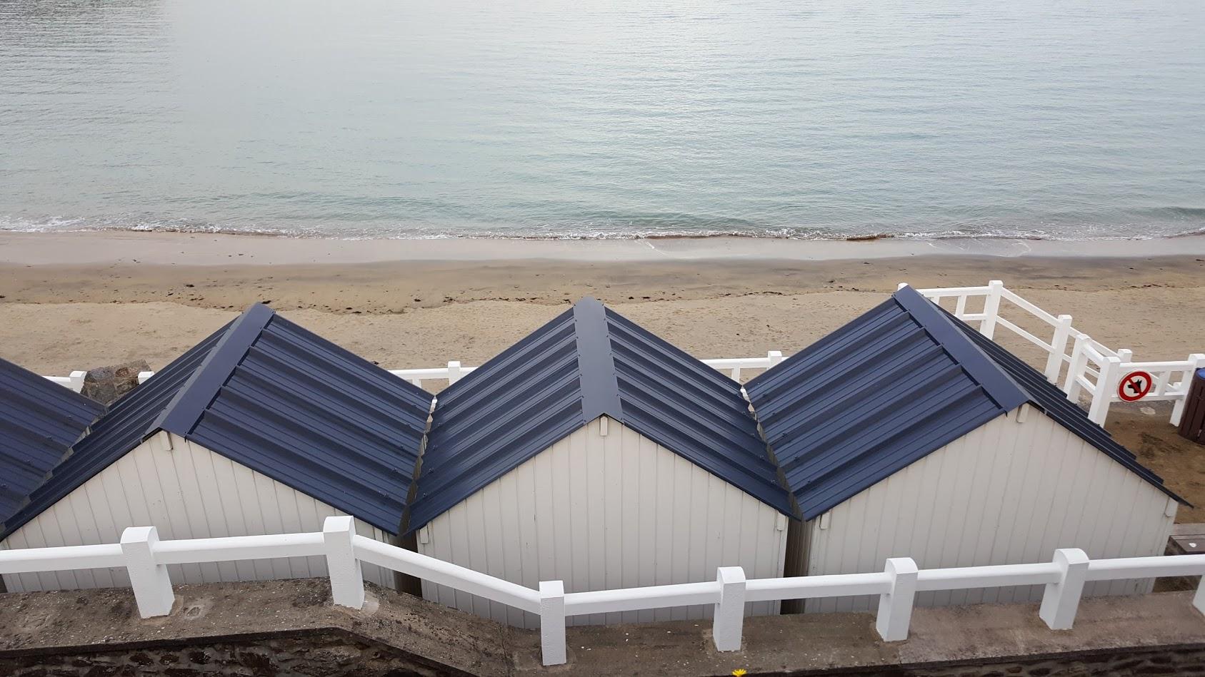 Cabines de plage en hiver