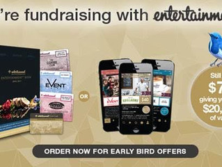 Order an Entertainment™ Membership and support our fundraising
