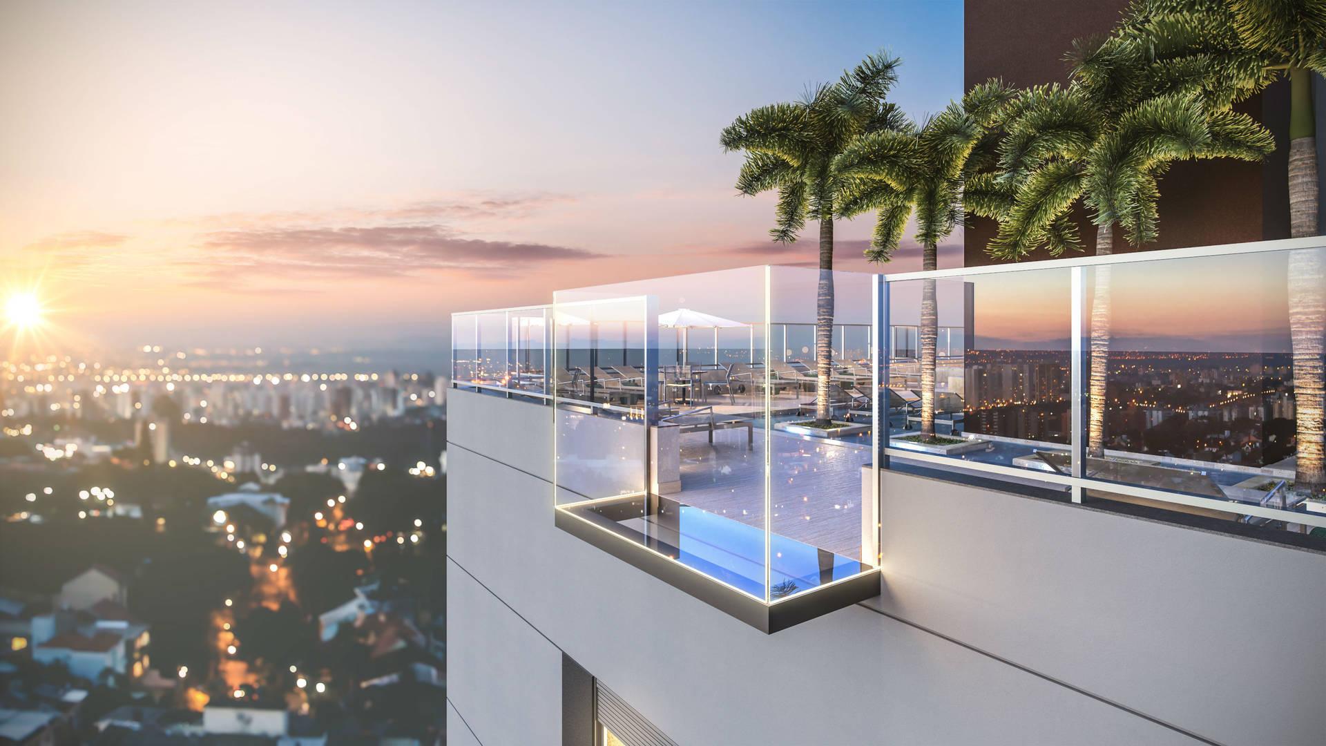Sky deck com vista infinita