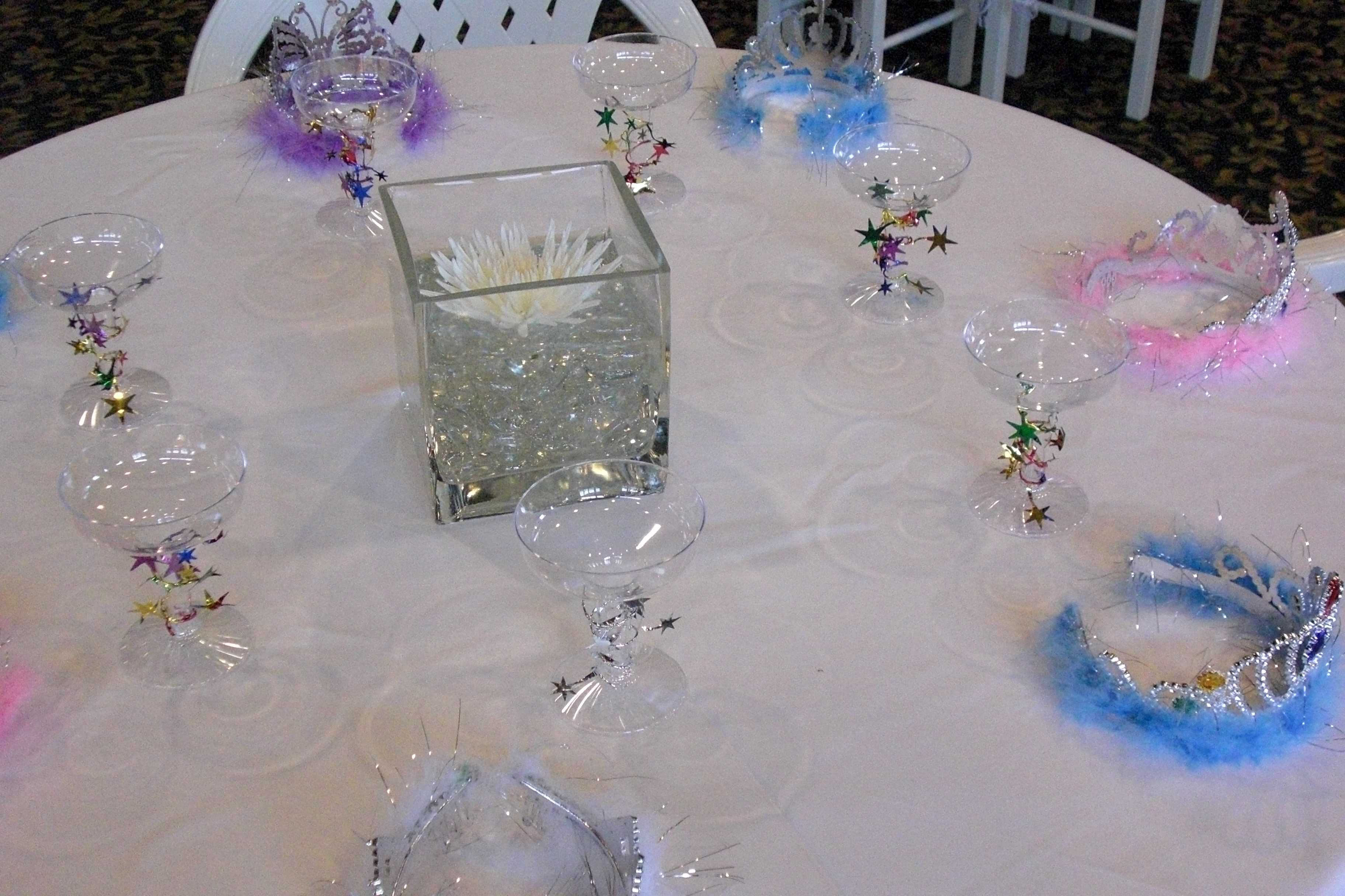The Tables Were Set with Tiaras