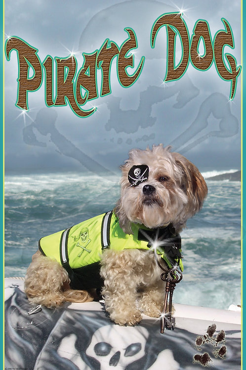 Pirate Dog Poster