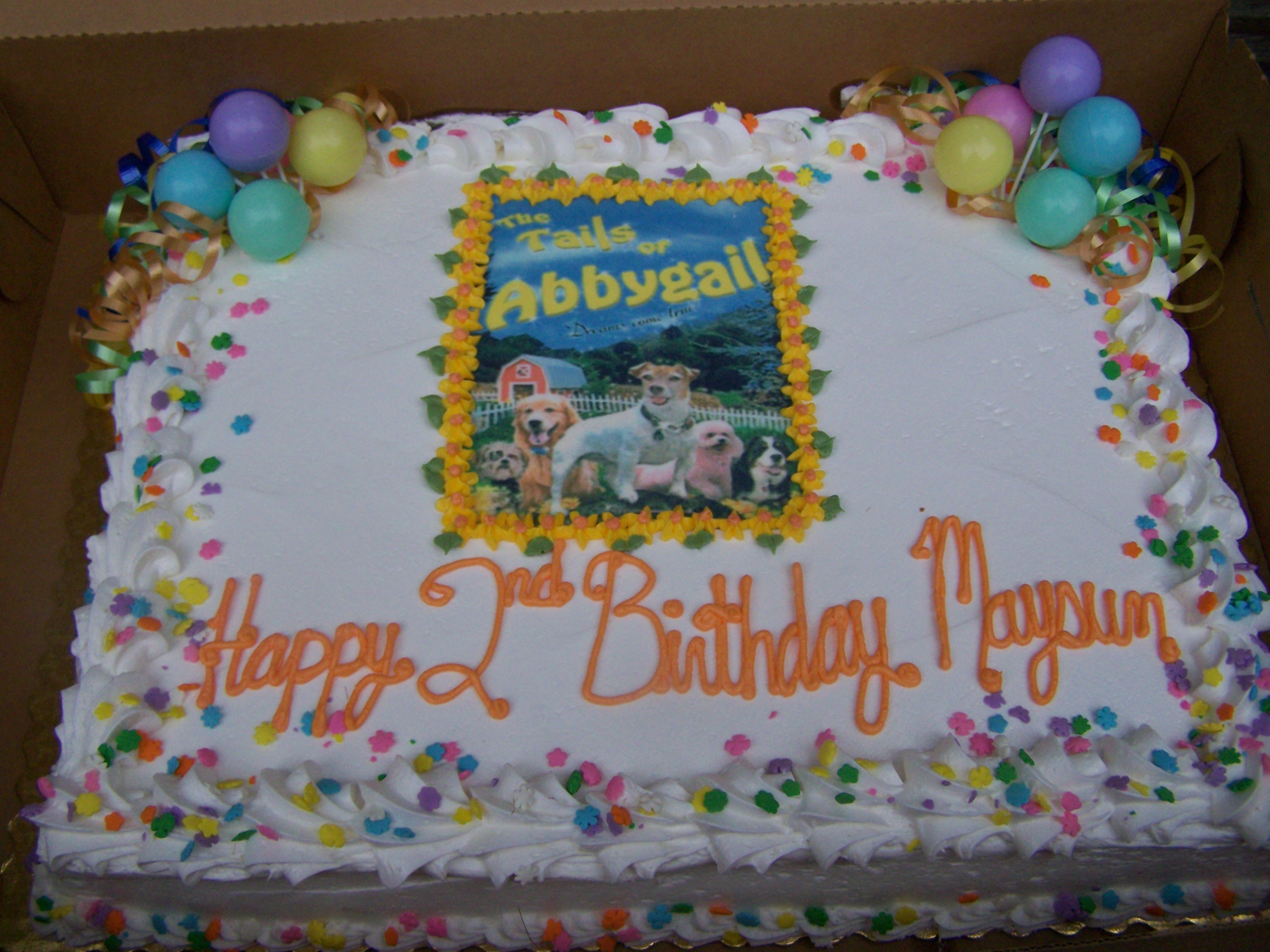A custom Abbygail birthday cake