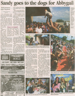 Abbygail Premier Article in Sandy Post