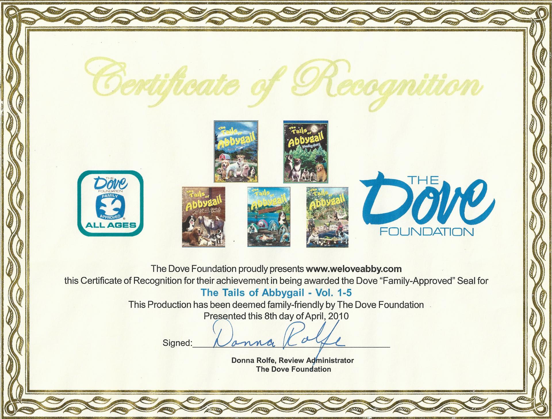 Dove Award EP 1-5 TOA