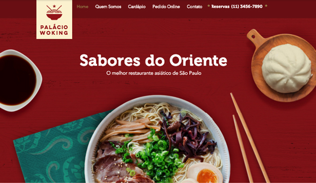 Restaurante website templates – Restaurante Asiático