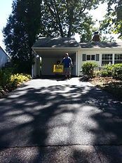 Residential driveway paving and sealcoating