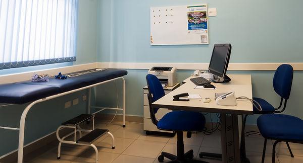 Sala de avaliação médica