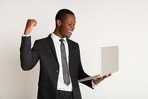 Businessman in stylish suit, tie standin