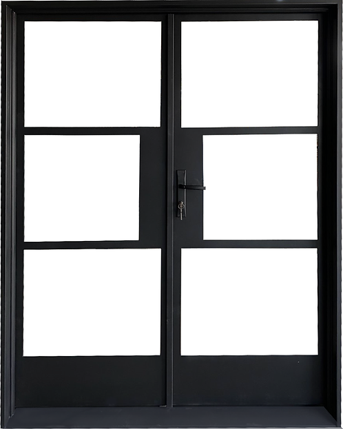 """61""""x81"""" Double Entry French Iron Door"""