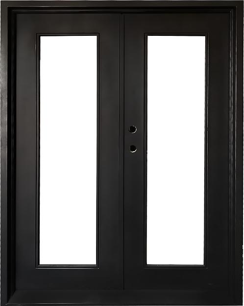 """61""""x81"""" Modern Wrought Entry Door"""