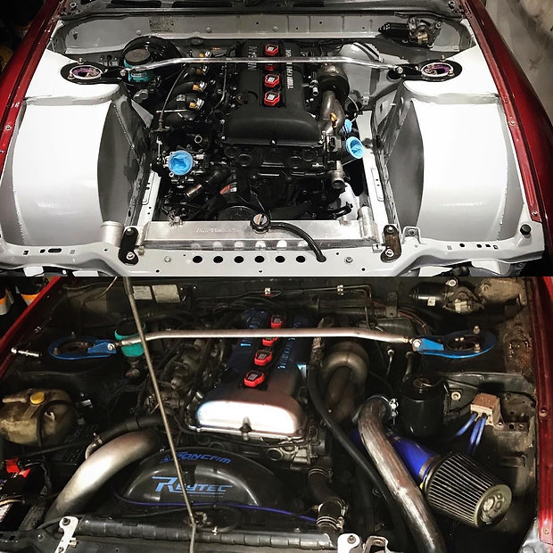 PS13 Painted Engine Bay