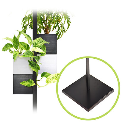 Support de sol + 4 Capill'O Cubes Blanc/Noir et Noir/Blanc