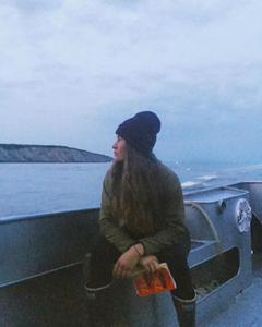 bristol bay deckhand takes a break from fishing