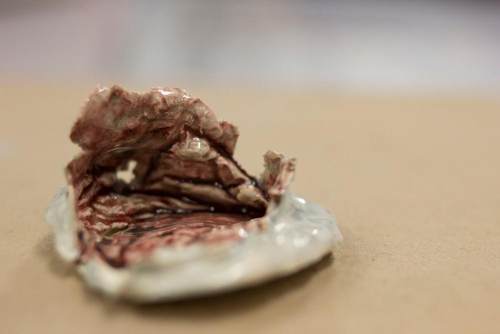 Ceramic piece by Meg Hamilton