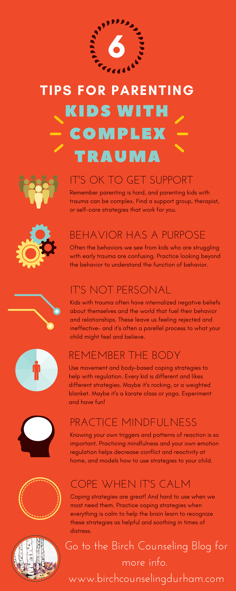 Tips for Parenting Kids with Complex Trauma Infographic