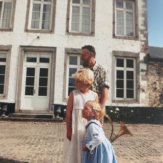Christophe Ruzette et ses deux filles