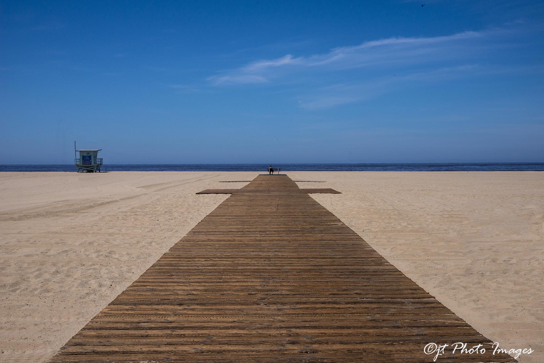 Santa Monica Beach Covid 19