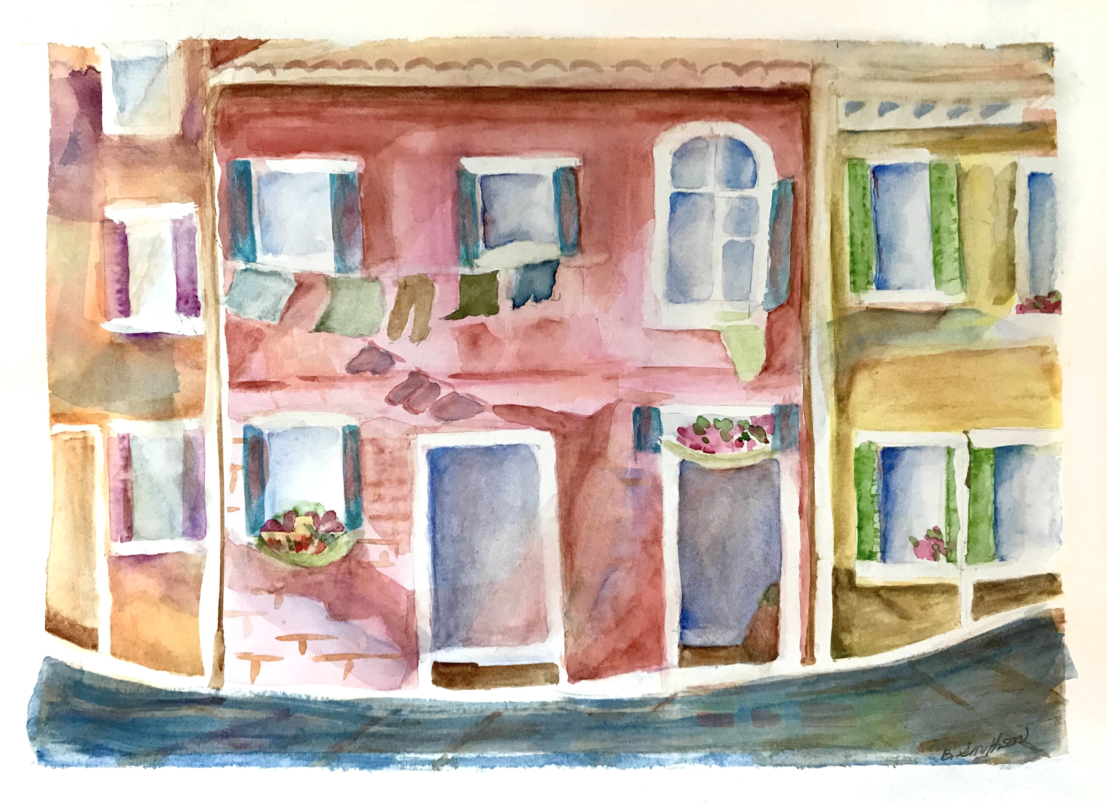 Colors of Burano  - Laundry Day by Barba