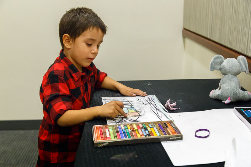 Gallery's youngest artist.