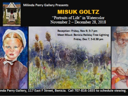 """Portraits of Life"" in Watercolor by Misuk Goltz"