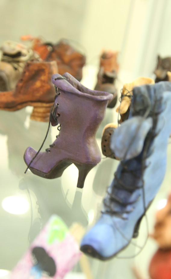 Hand Carved Wooden Boots