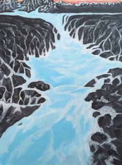 Light Blue waterfall in Iceland Renee Mi