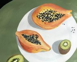 Papaya and Kiwi Ann-Marie Scoh Acrylic