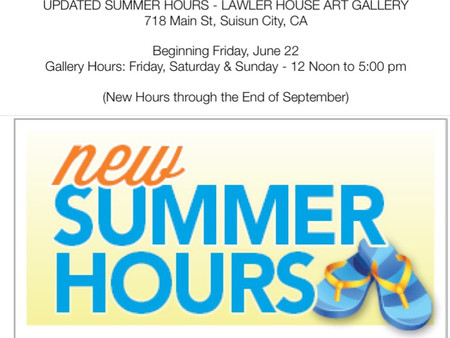 Updated Summer Hours at Lawler House Art Gallery