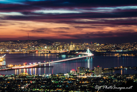 Bay Bridge Awesome Sunset from Grizzly Peak Road-Photograph