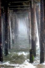 Under Capitola Pier-Photograph