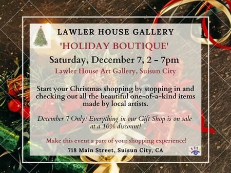 Holiday Boutique, Saturday, December 7