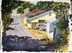Harvey_Steinhaus_Watercolor_Resting_Lawn