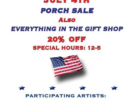 July 4th Porch Sale at Lawler House