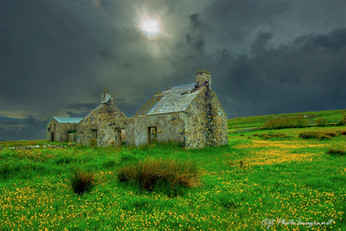 Abandoned Cottage ISLAY SCOTLAND #1-Photograph
