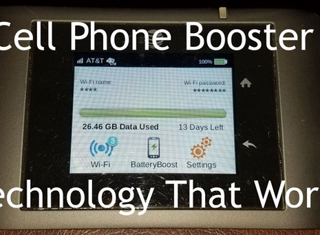 Finally....A Cell Phone Signal Booster That Works!