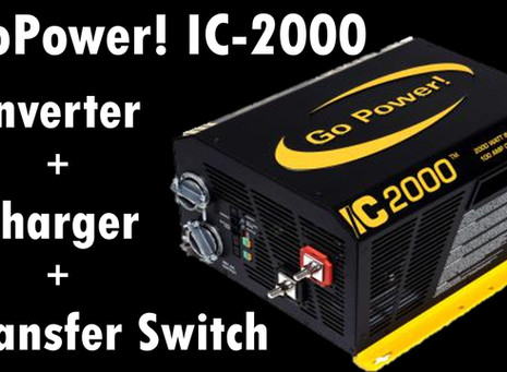 Go Power! IC-2000 -  Inverter & Converter & Transfer Switch