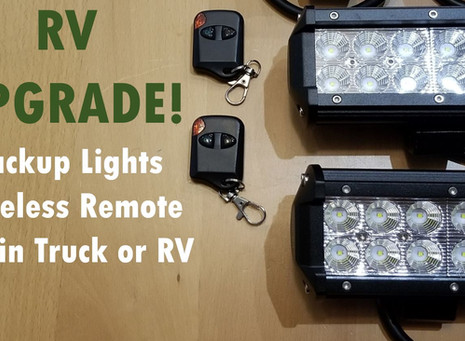 New Lights for Backing Up & Security