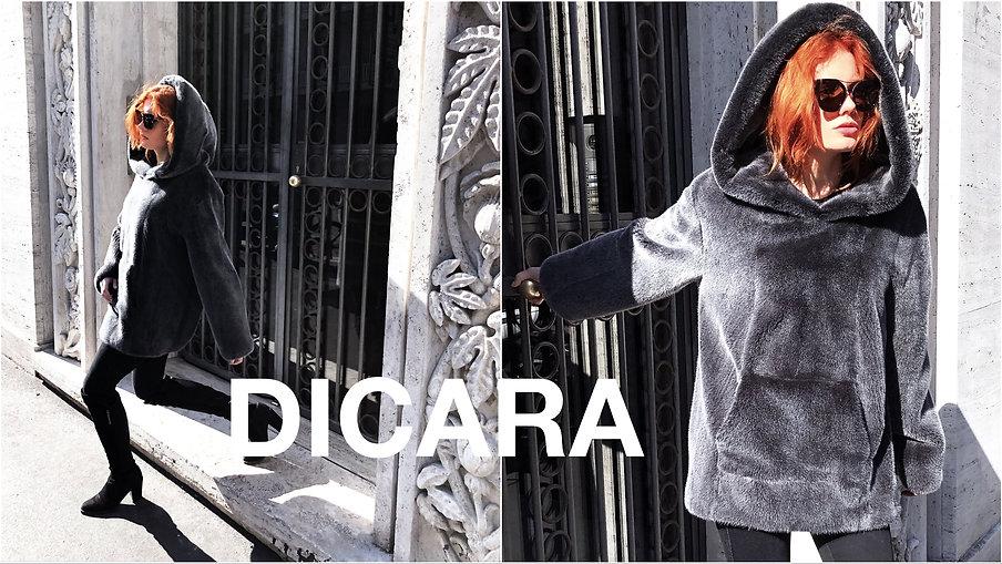 Dicara fur hoodie,fashion campaign, winter 19-20