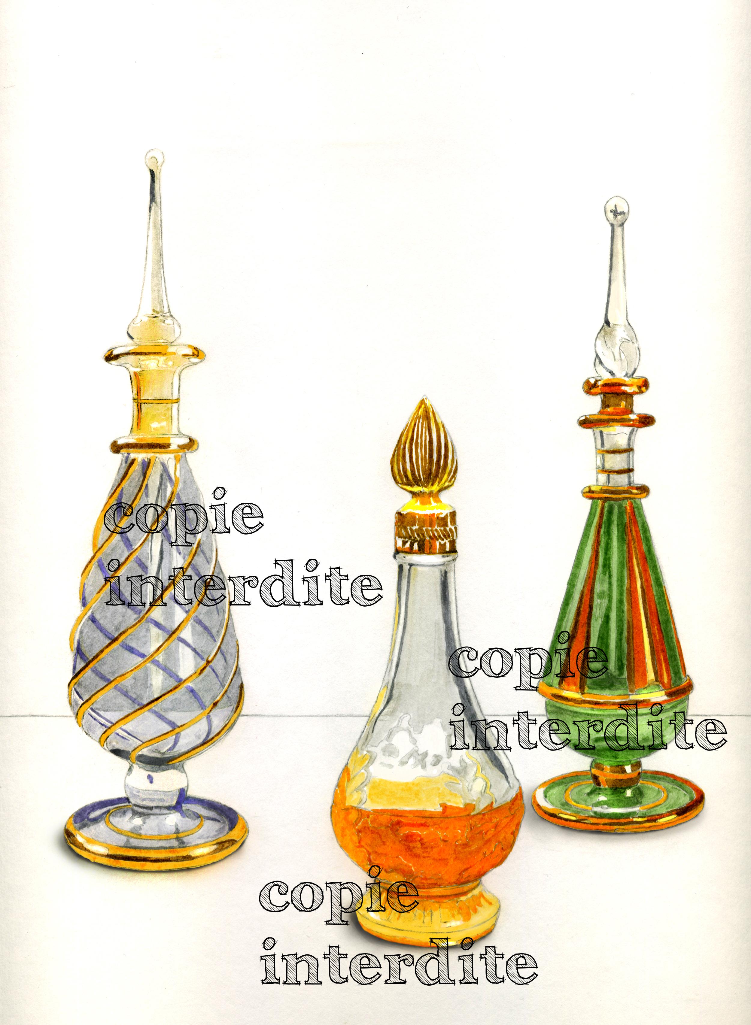 3 flacons de parfum