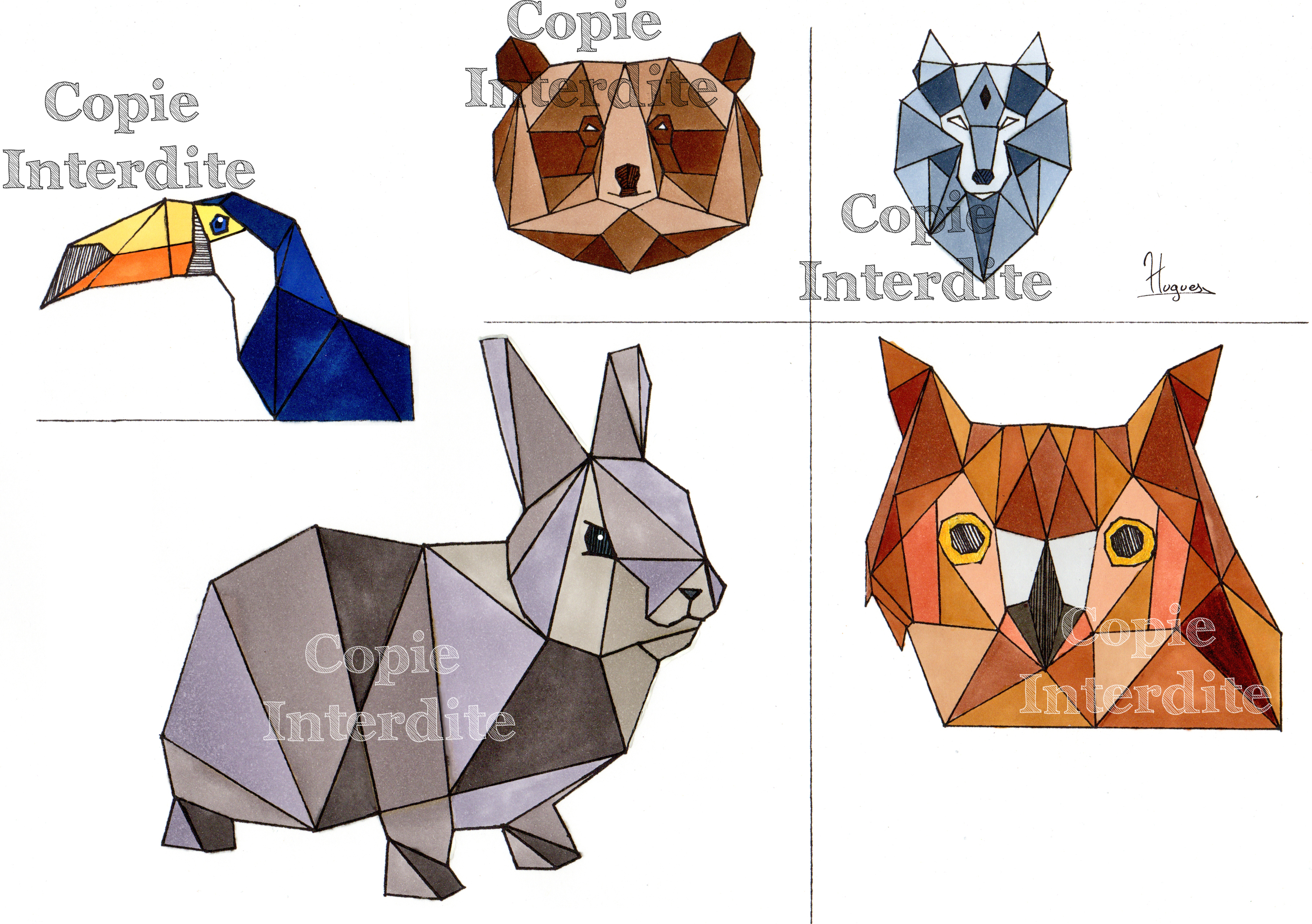 Animaux triangles