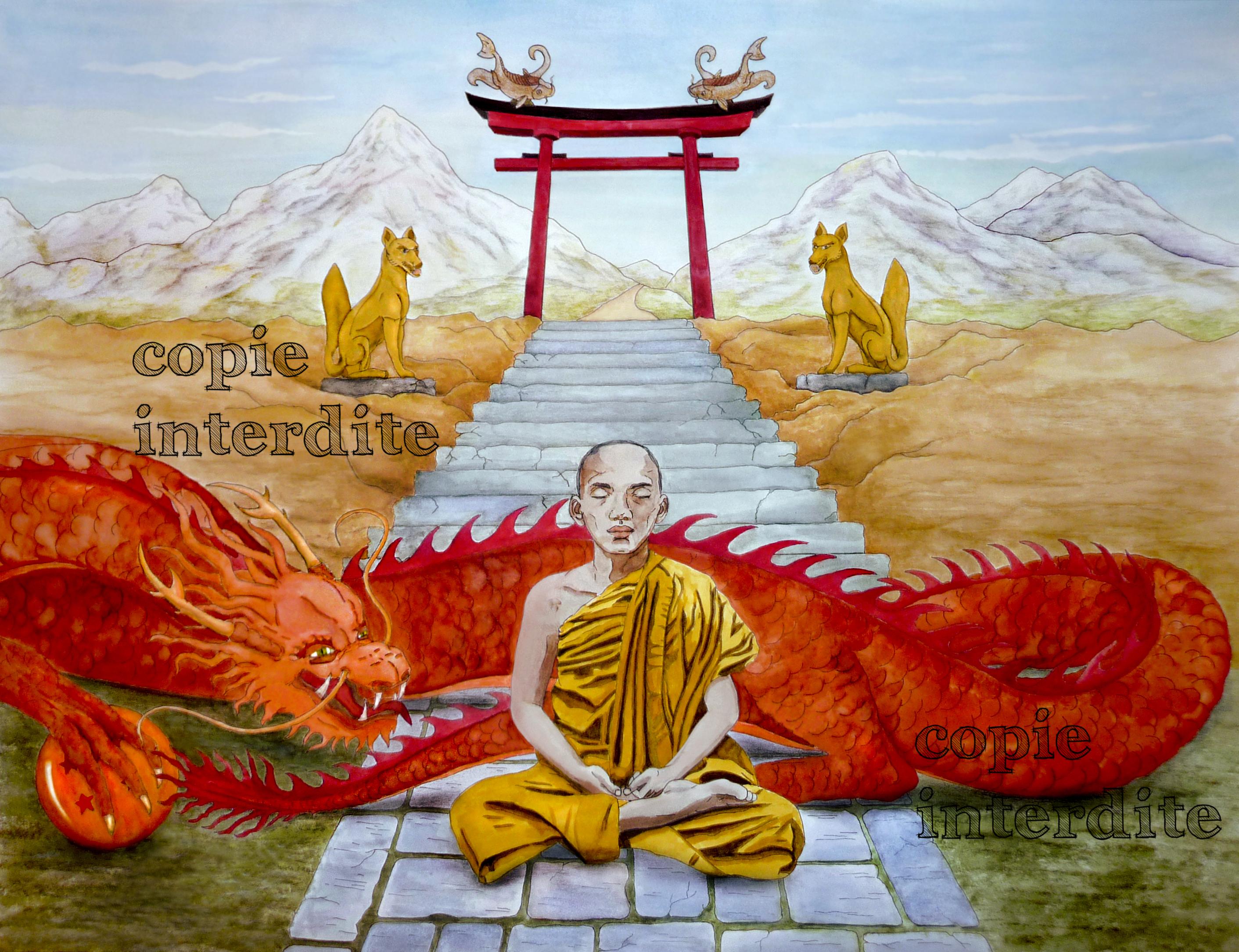 Le moine et son dragon