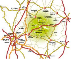 plan accès Mirebeau
