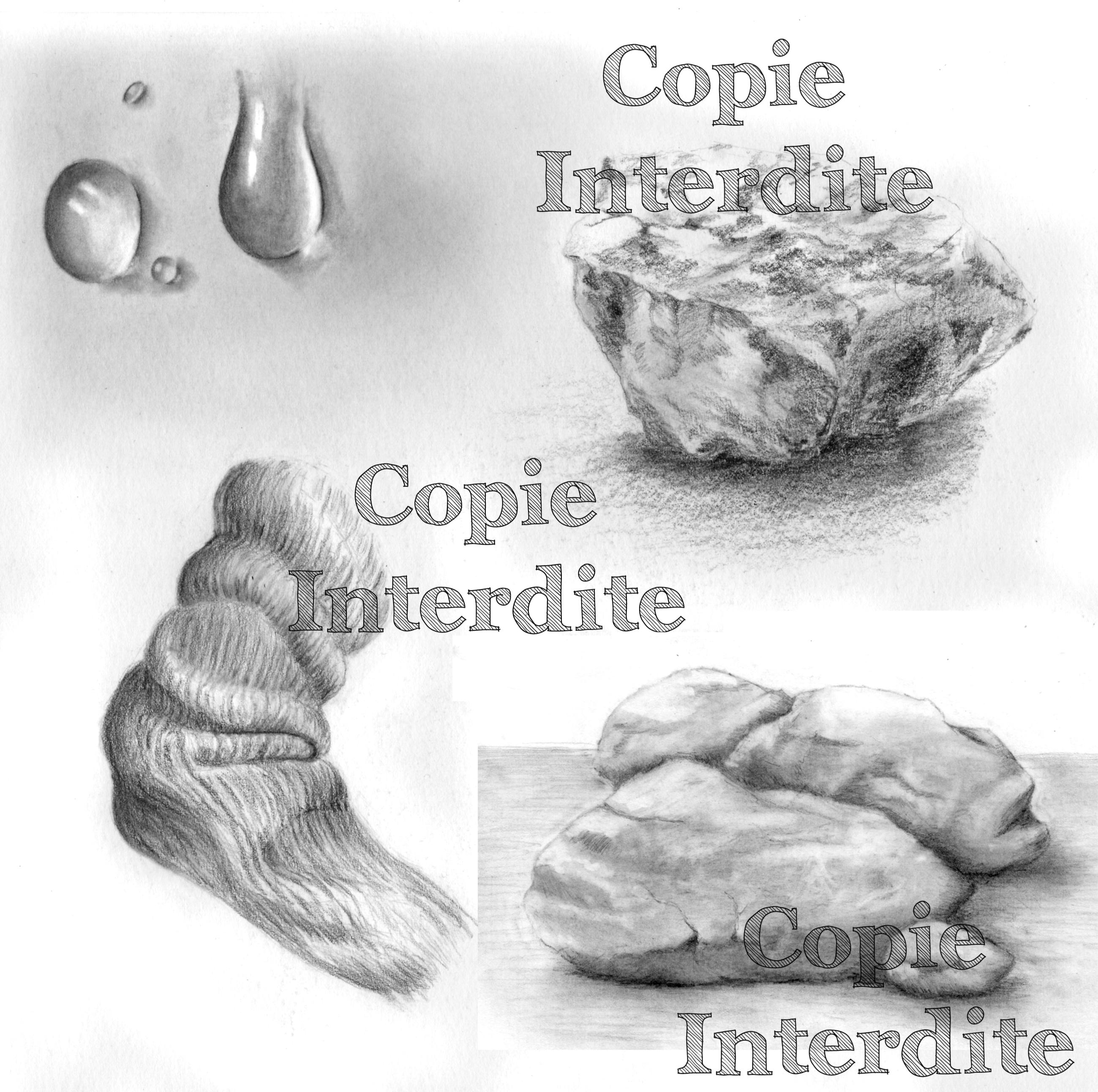 Texture rochers, goutte, laine
