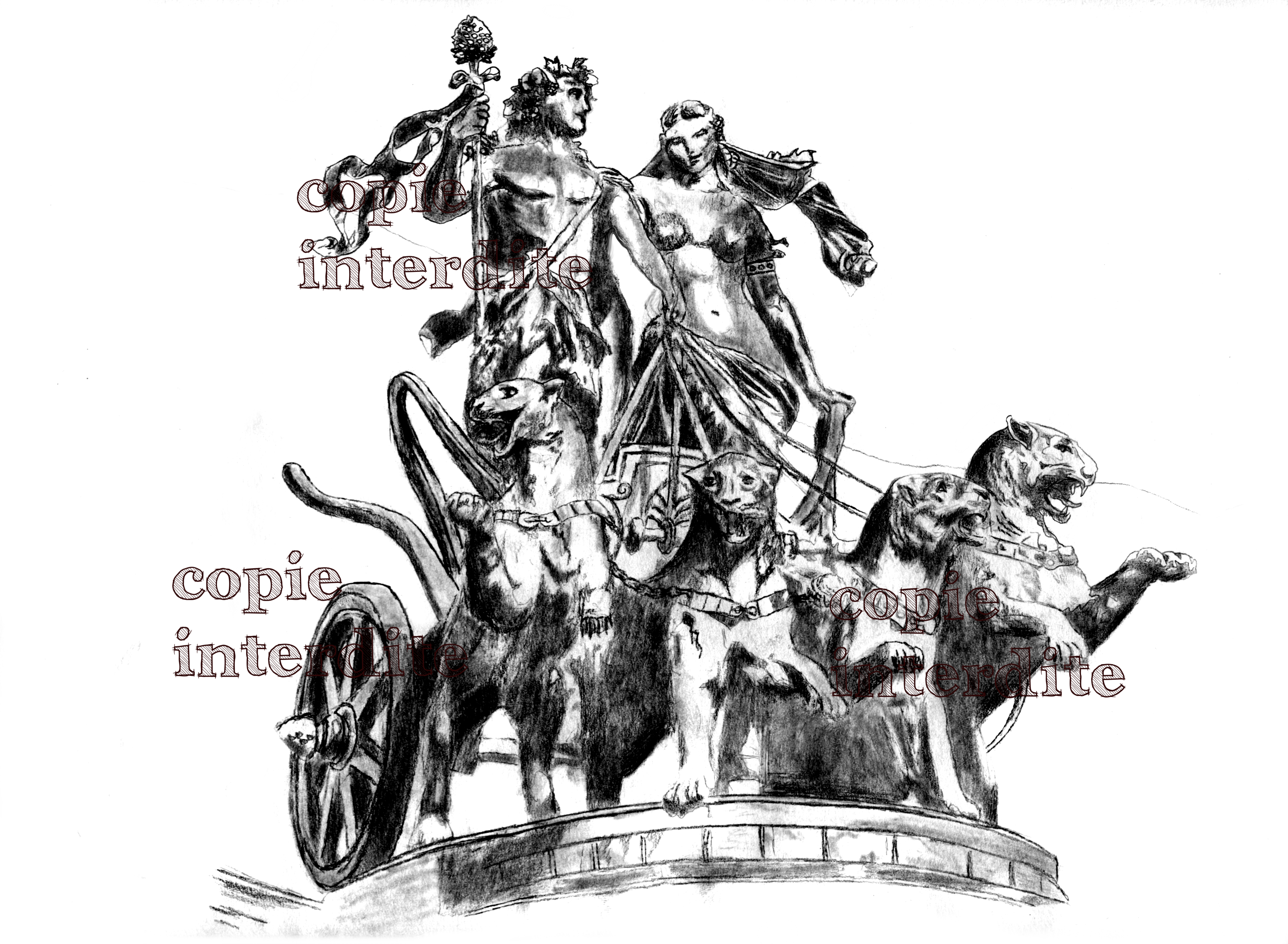 Statue Dionysos et Ariane