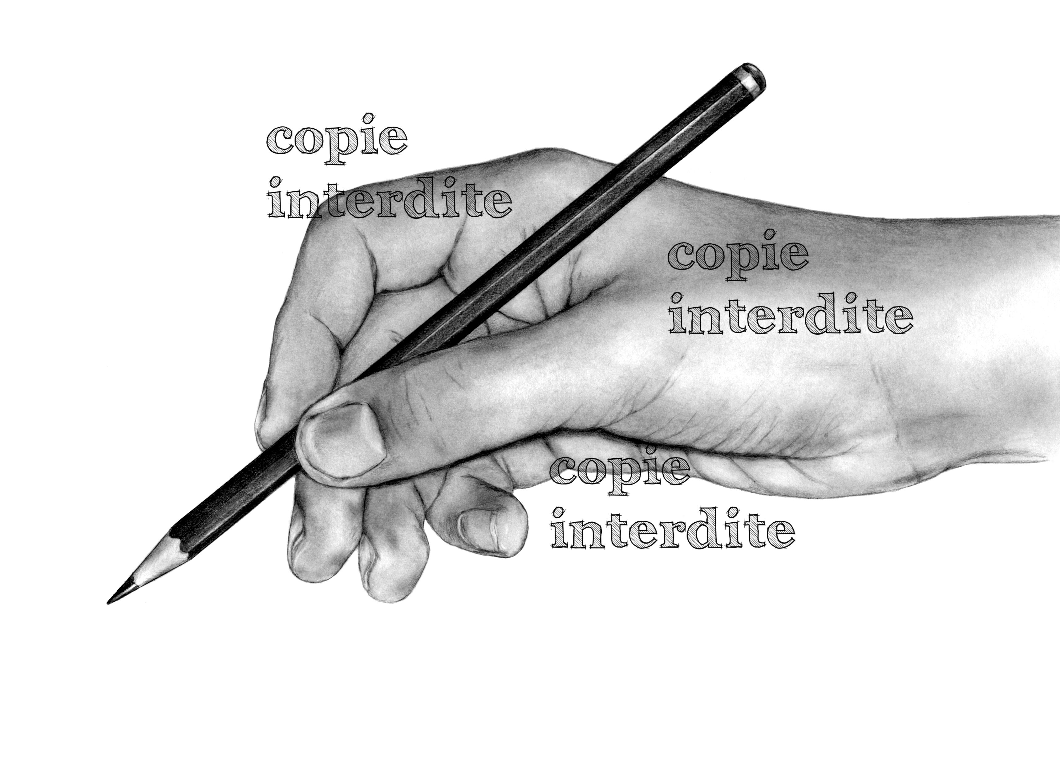 Main et crayon