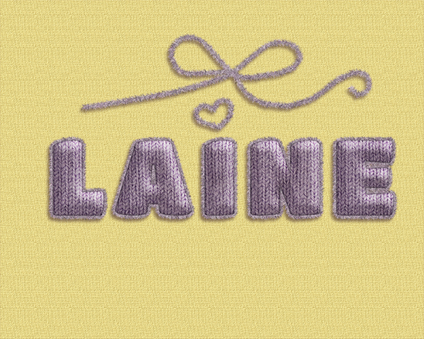 lettres tricotées