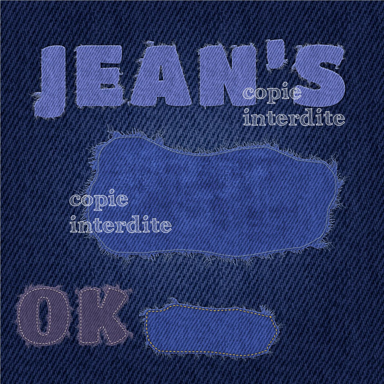 tissus jean's effiloché