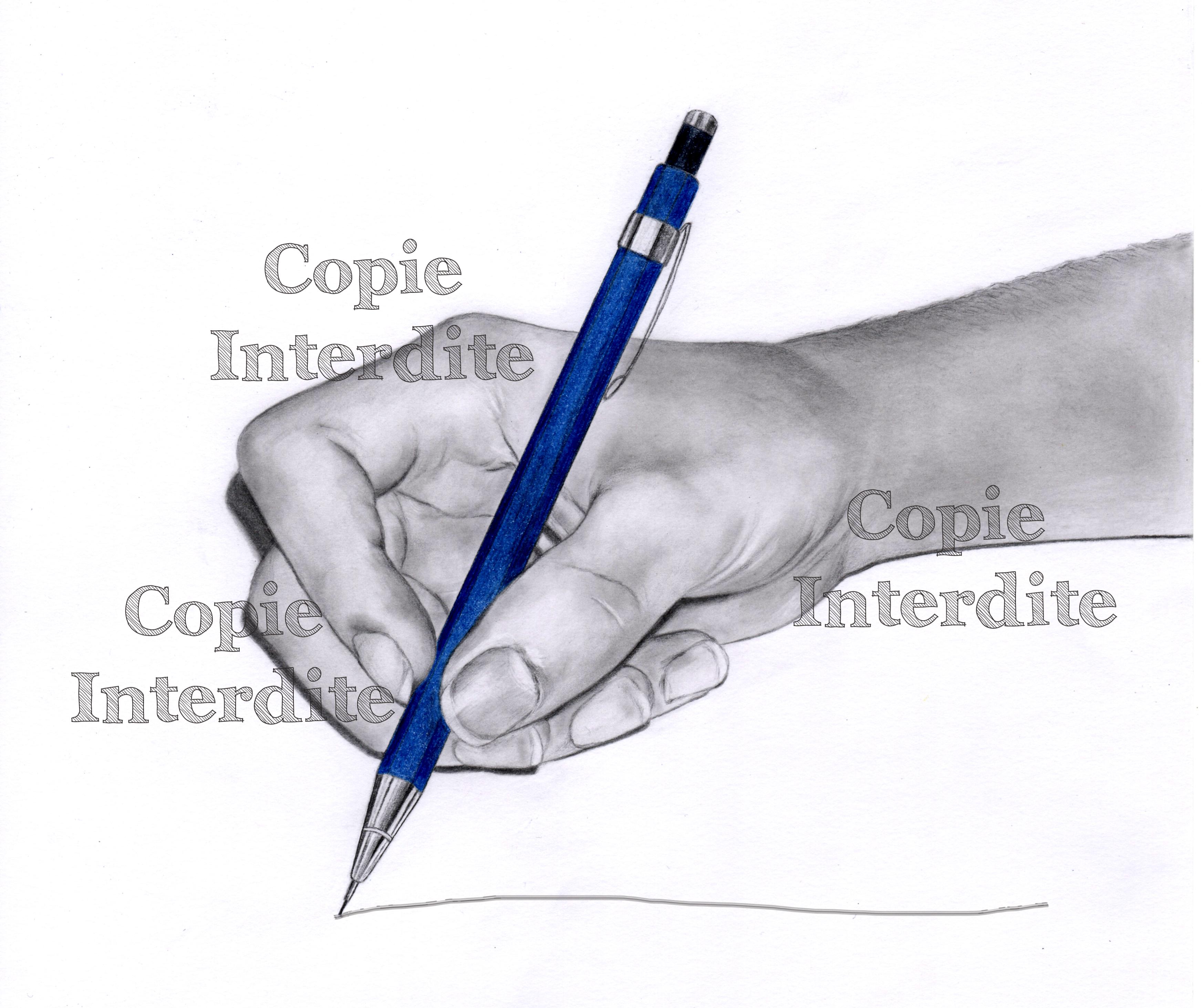 mon crayon bleu
