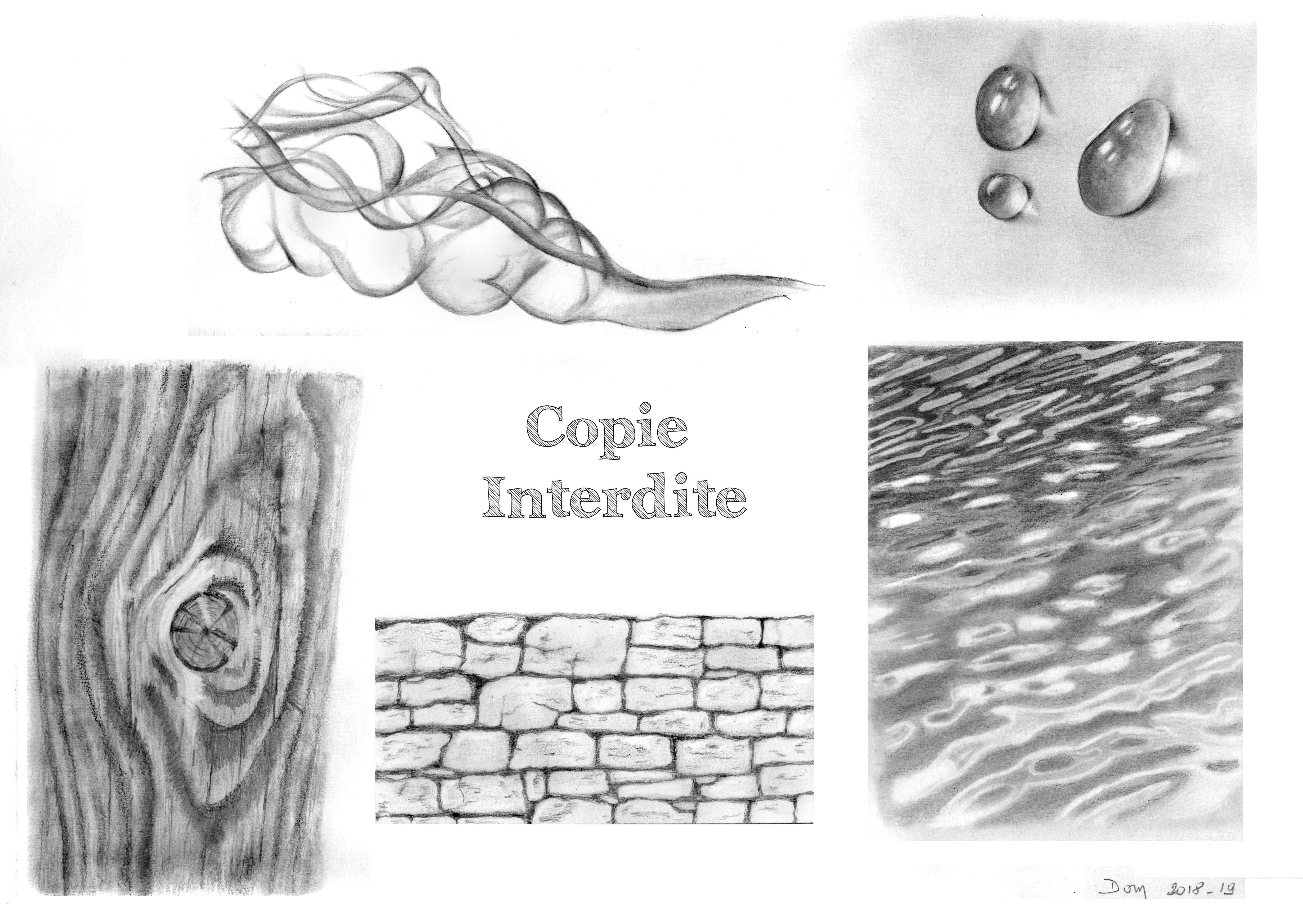 étude textures