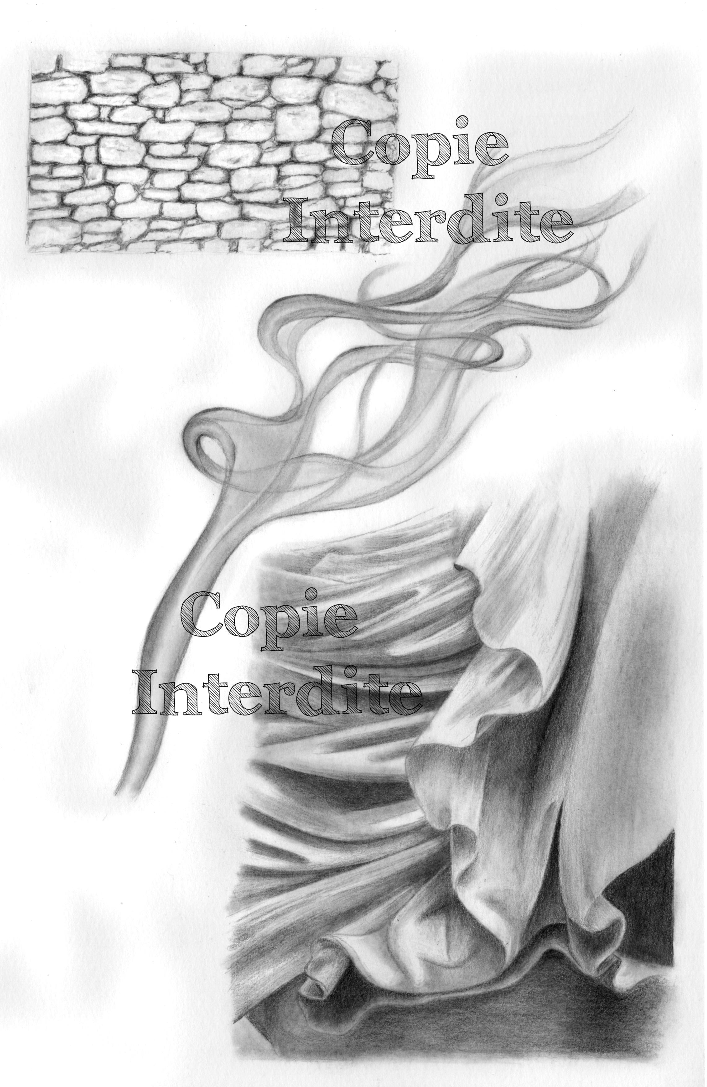 Texture drapé, fumée